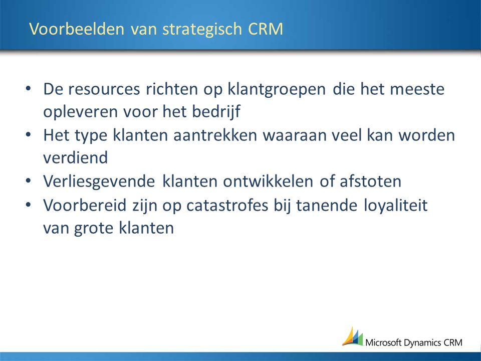 Voorbeelden van strategisch CRM