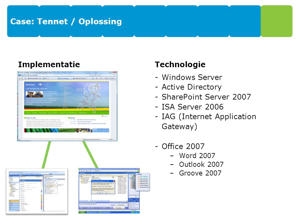 Case: Tennet / Oplossing