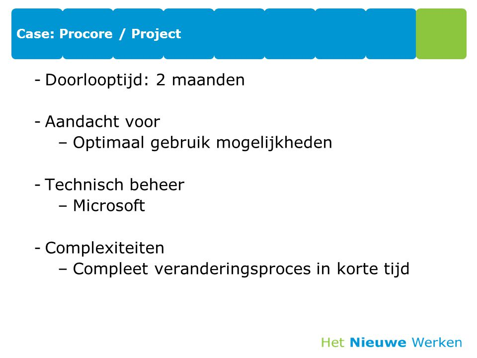 Case: Procore / Project