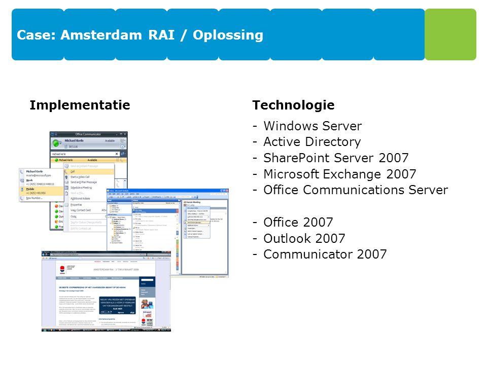 Case: Amsterdam RAI / Oplossing