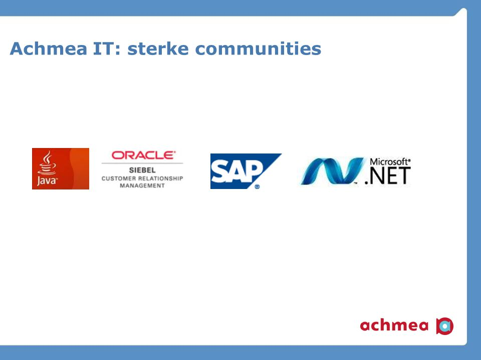 Achmea IT: sterke communities