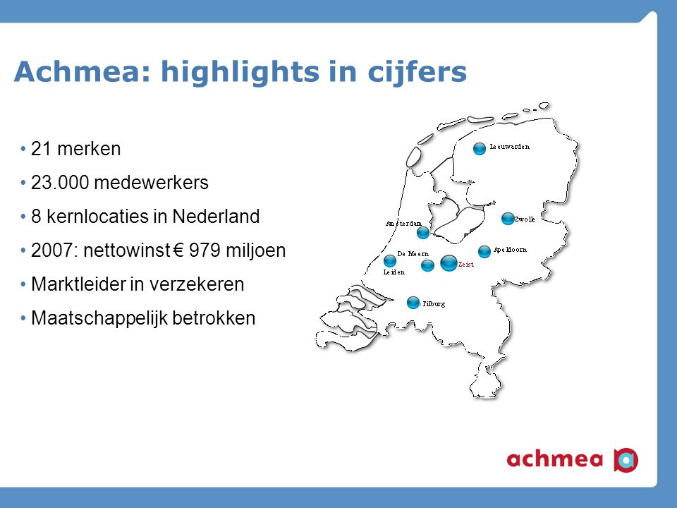 Achmea: highlights in cijfers