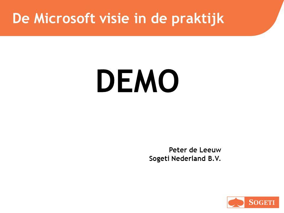 De Microsoft visie in de praktijk