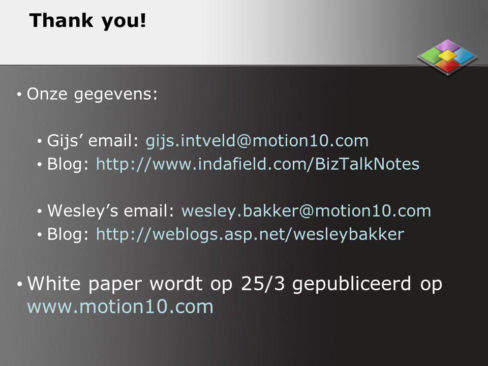 White paper wordt op 25/3 gepubliceerd op www.motion10.com