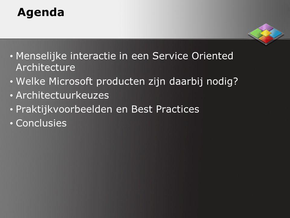 Agenda Menselijke interactie in een Service Oriented Architecture