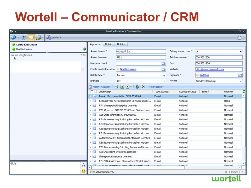 Wortell – Communicator / CRM