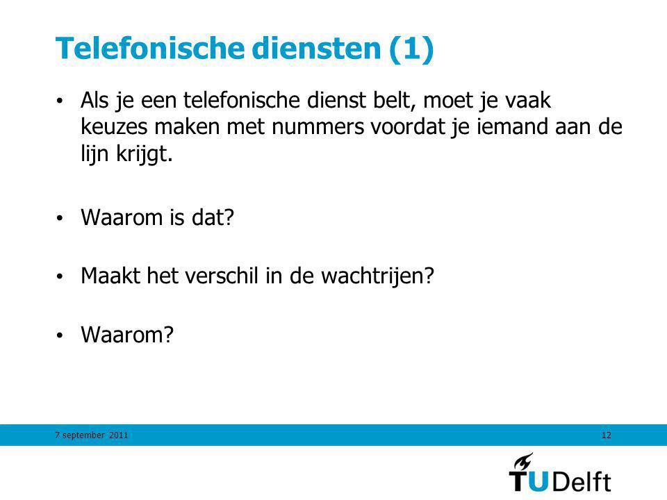 Telefonische diensten (1)