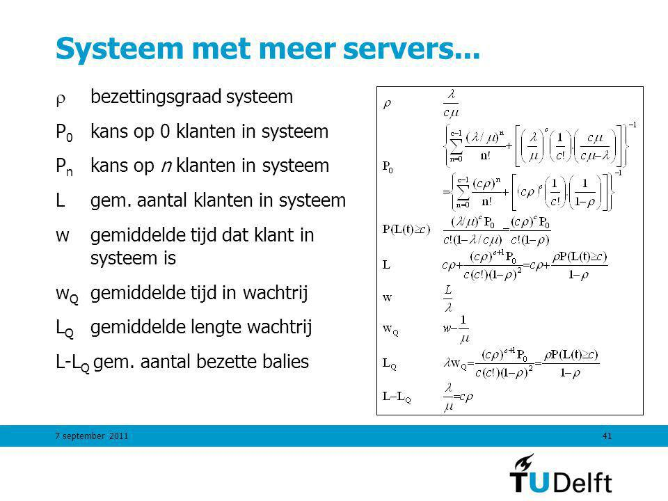 Systeem met meer servers...