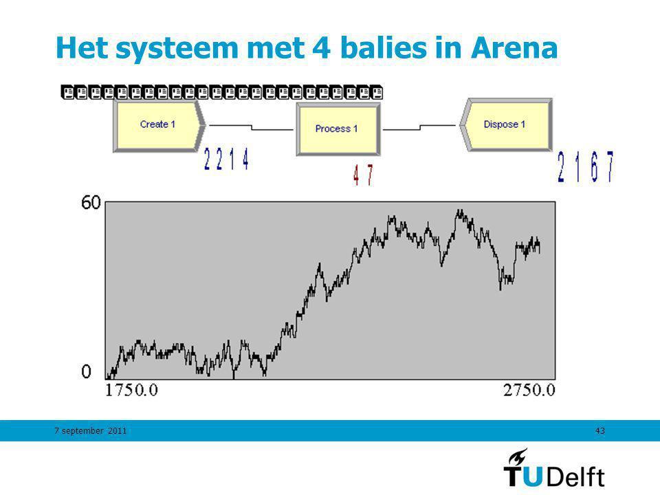 Het systeem met 4 balies in Arena
