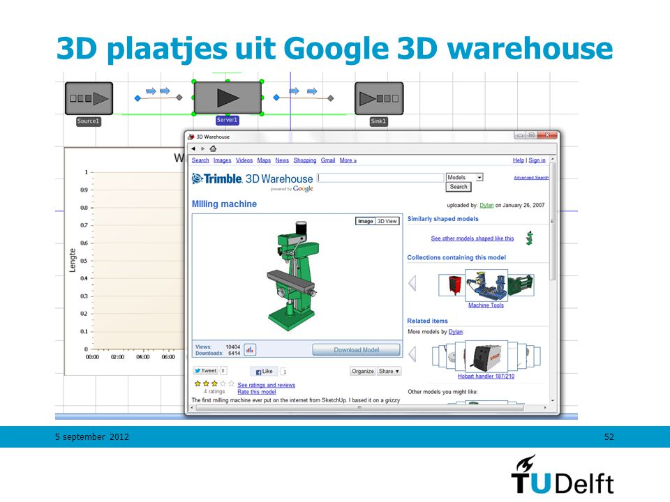 3D plaatjes uit Google 3D warehouse