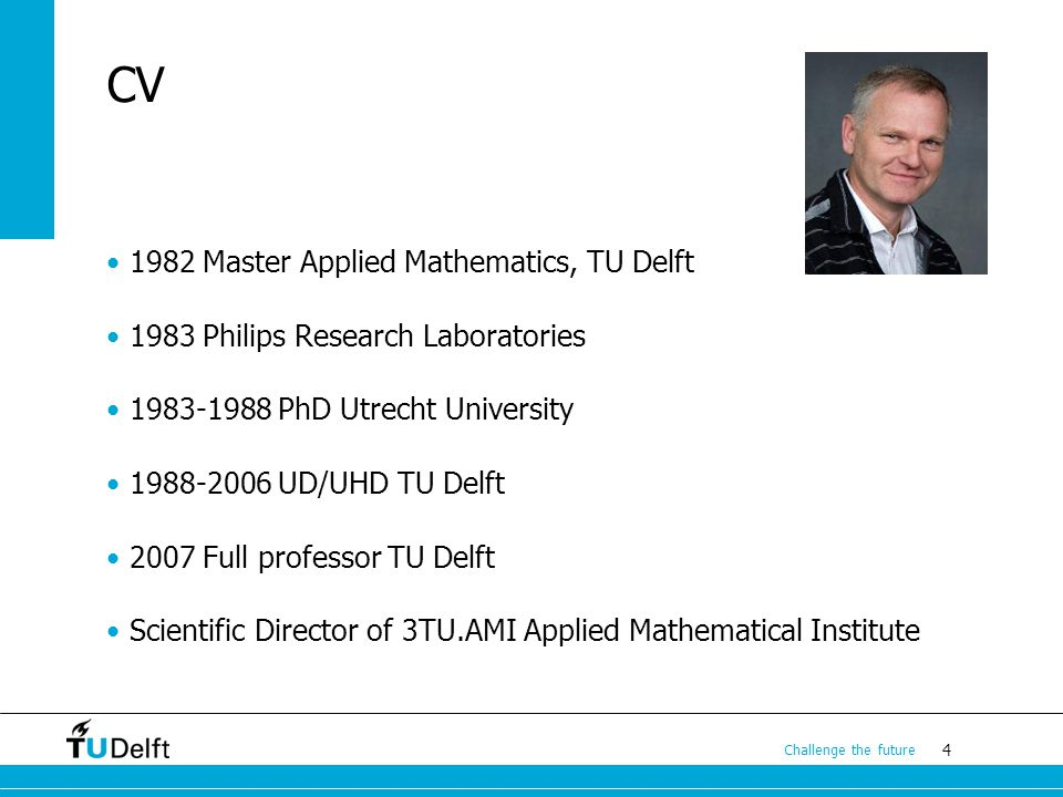 CV 1982 Master Applied Mathematics, TU Delft