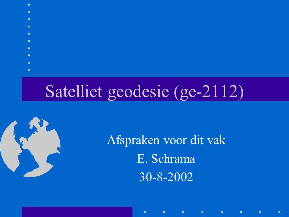 Satelliet geodesie (ge-2112)