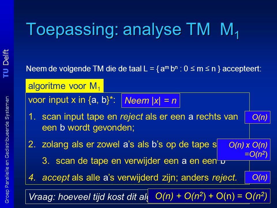 Toepassing: analyse TM M1