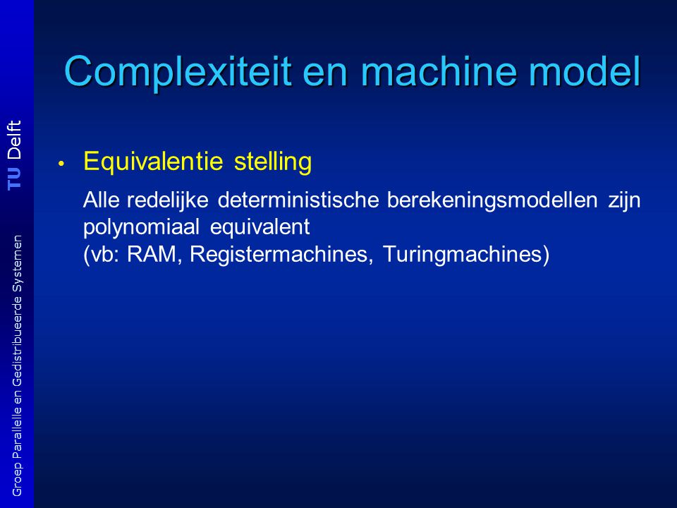 Complexiteit en machine model