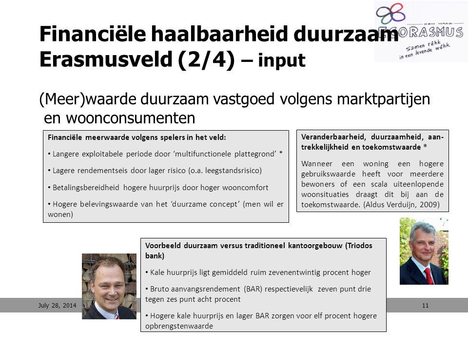 Financiële haalbaarheid duurzaam Erasmusveld (2/4) – input