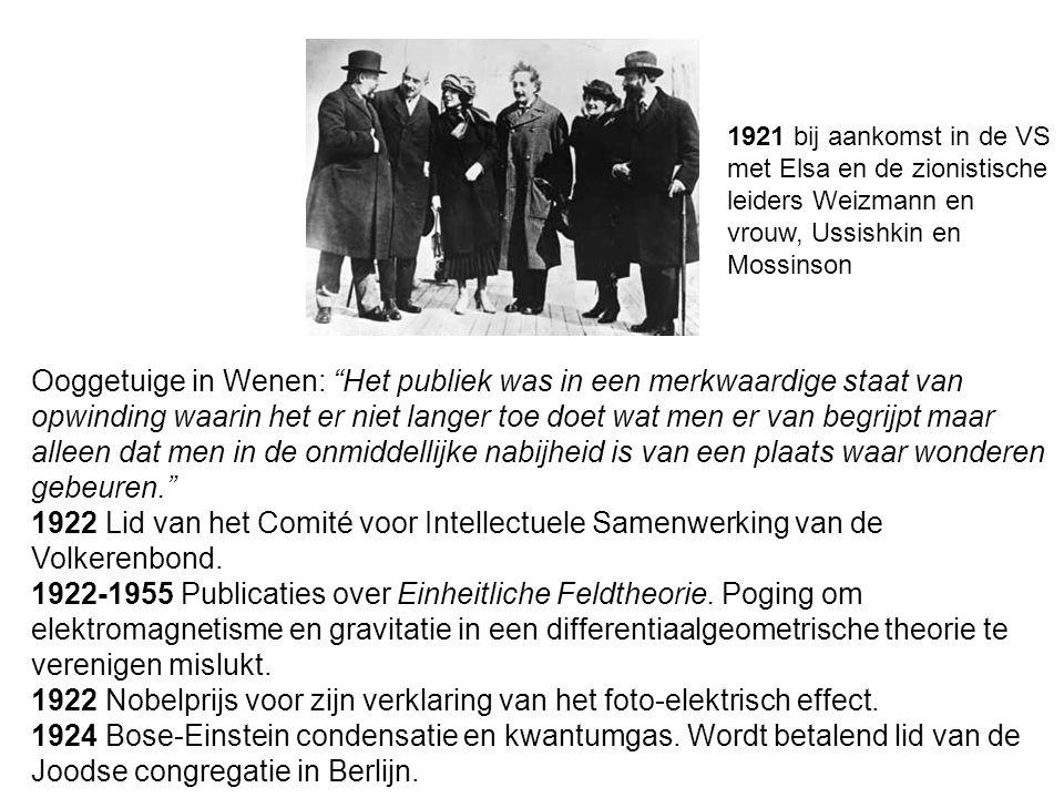 1922 Nobelprijs voor zijn verklaring van het foto-elektrisch effect.