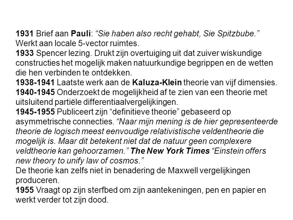 1931 Brief aan Pauli: Sie haben also recht gehabt, Sie Spitzbube