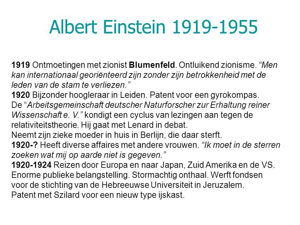 Albert Einstein 1919-1955