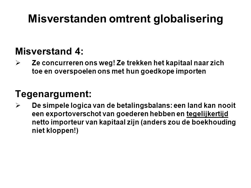 Misverstanden omtrent globalisering