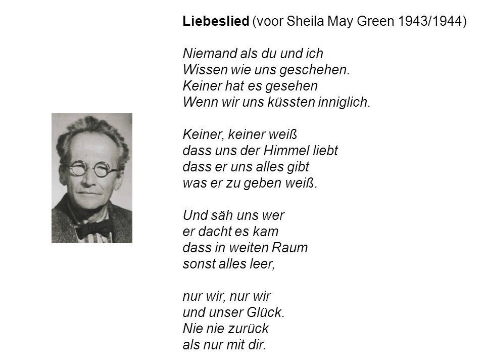 Liebeslied (voor Sheila May Green 1943/1944)