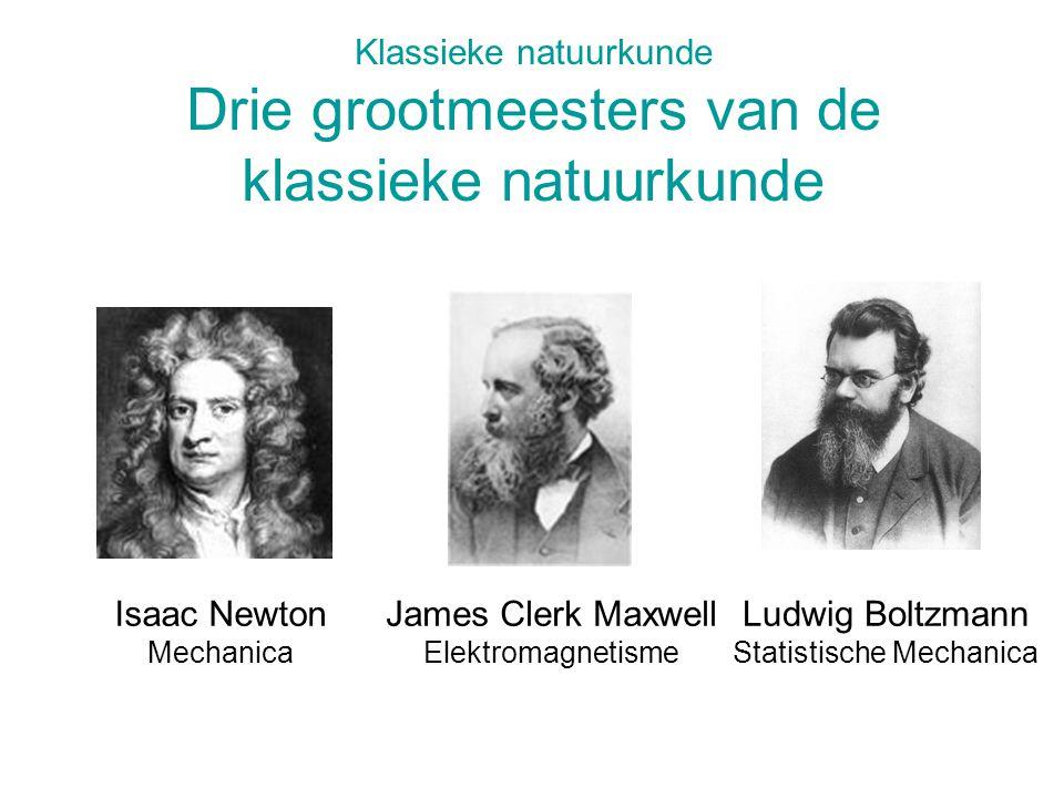 Klassieke natuurkunde Drie grootmeesters van de klassieke natuurkunde