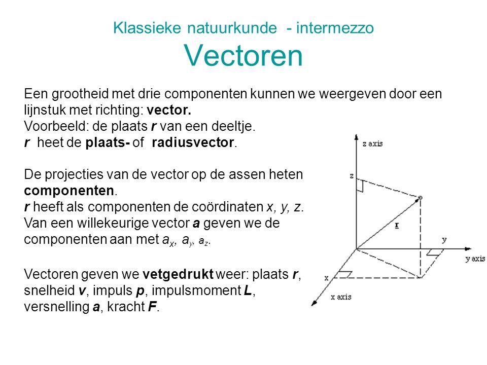 Klassieke natuurkunde - intermezzo Vectoren