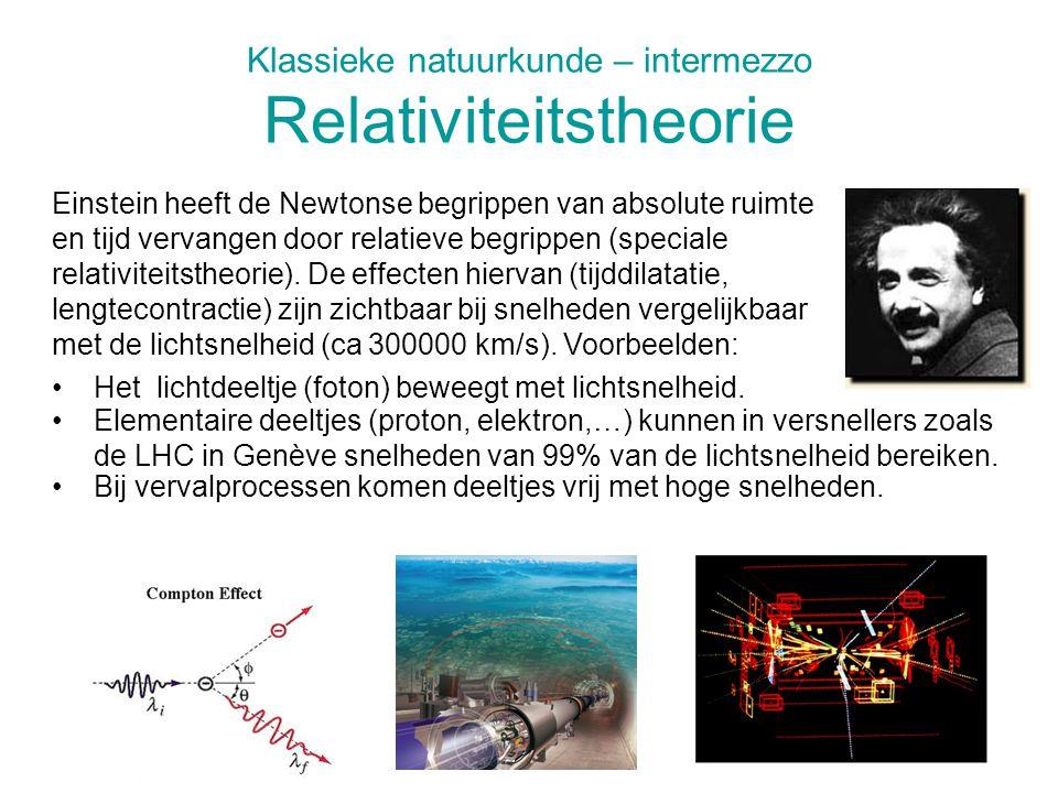 Klassieke natuurkunde – intermezzo Relativiteitstheorie