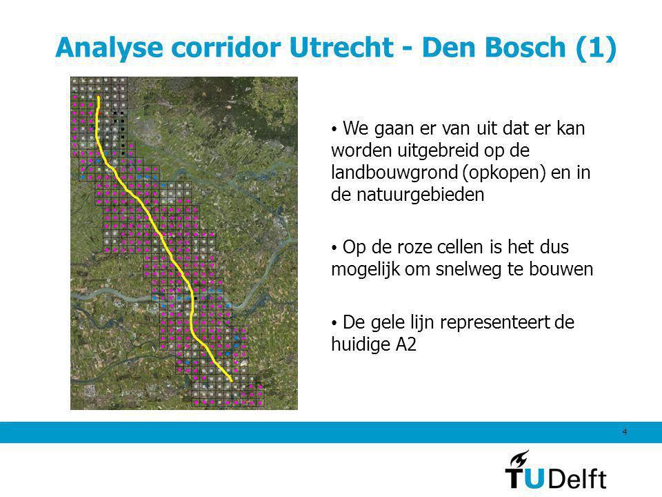 Analyse corridor Utrecht - Den Bosch (1)