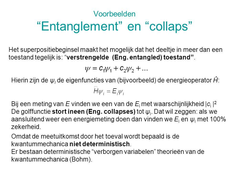 Voorbeelden Entanglement en collaps