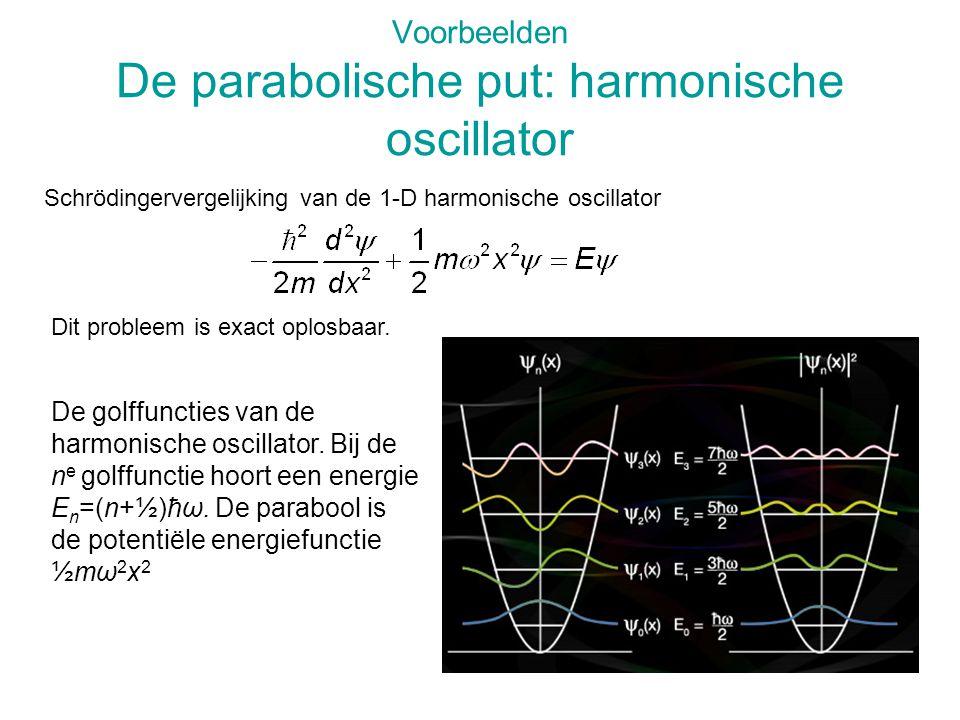 Voorbeelden De parabolische put: harmonische oscillator