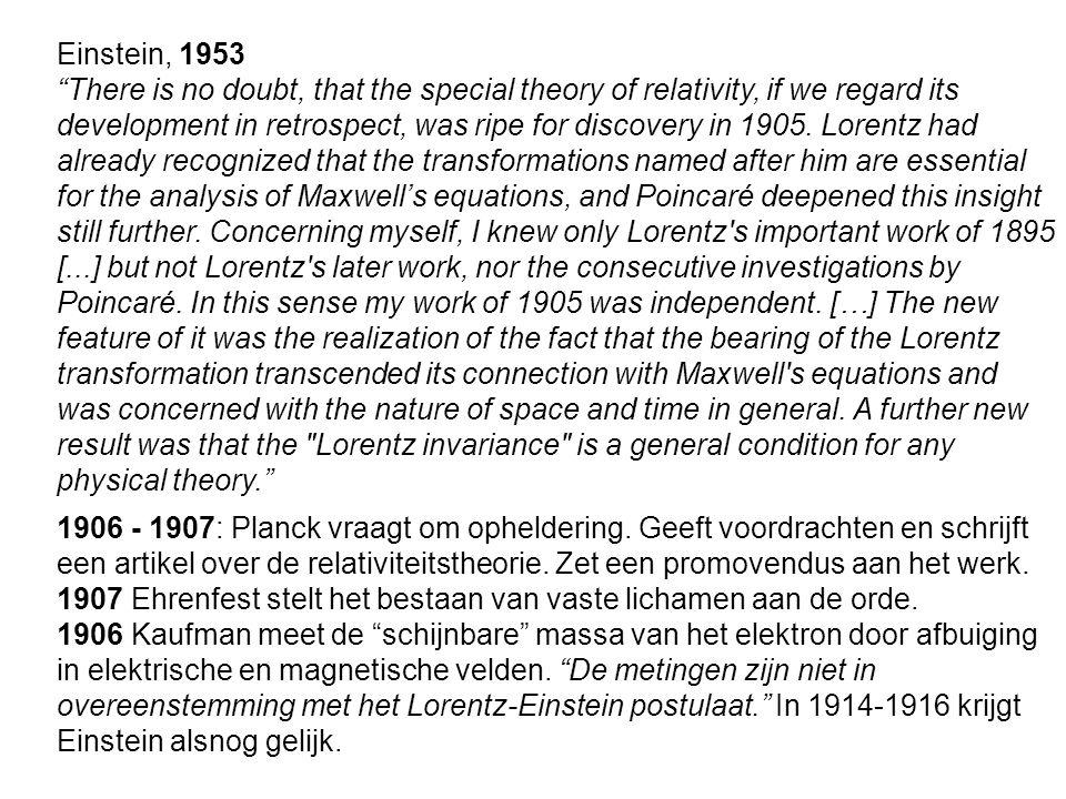 Einstein, 1953
