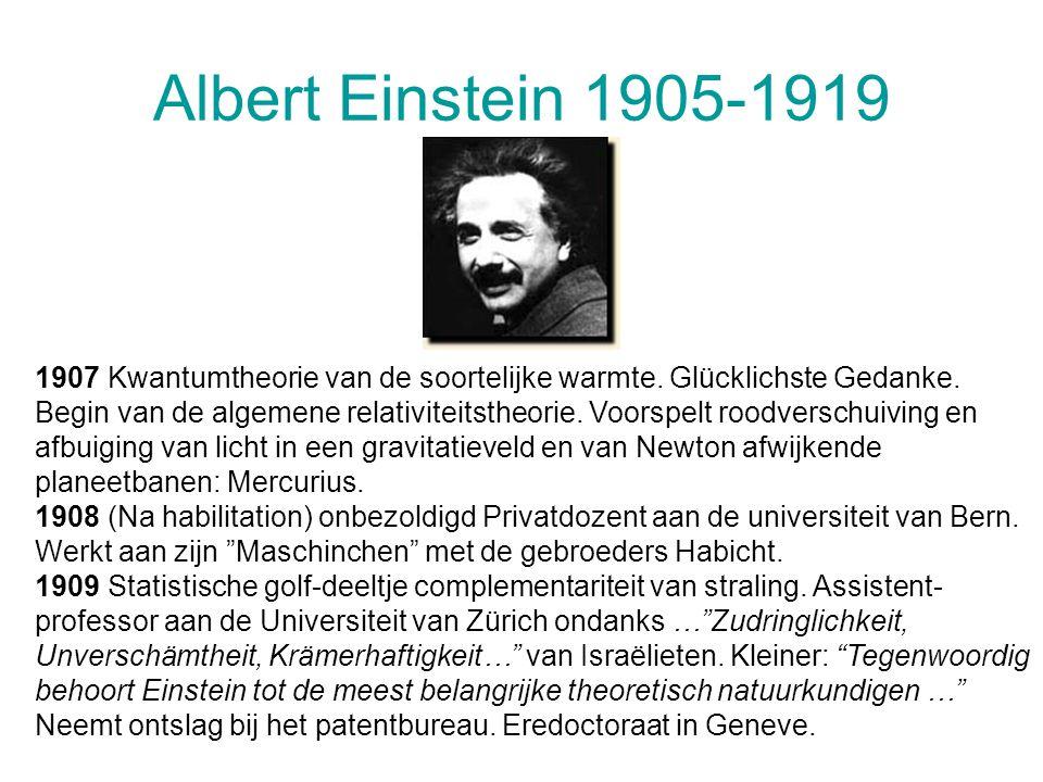 Albert Einstein 1905-1919