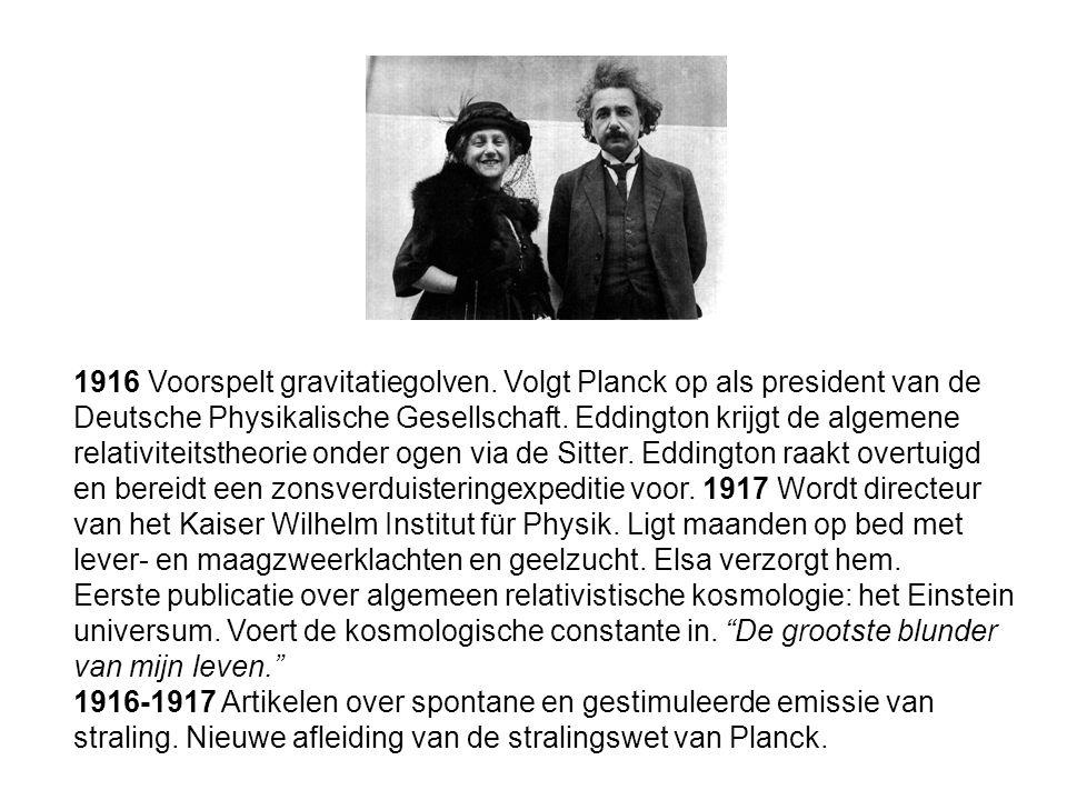 1916 Voorspelt gravitatiegolven