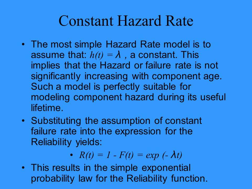 Constant Hazard Rate