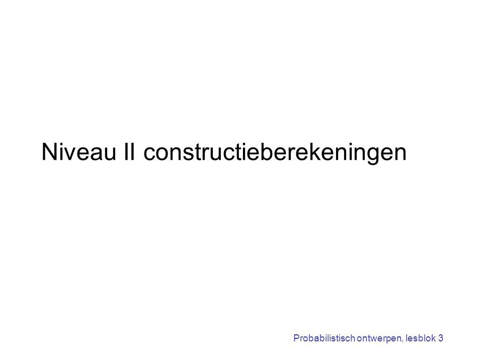 Niveau II constructieberekeningen