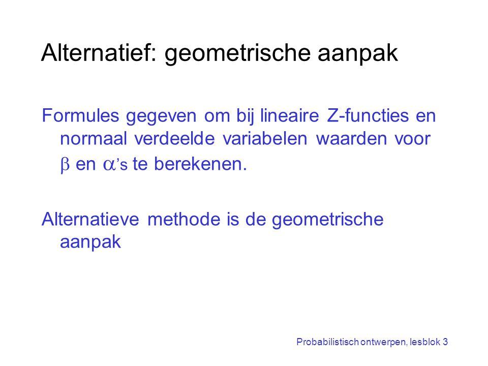 Alternatief: geometrische aanpak
