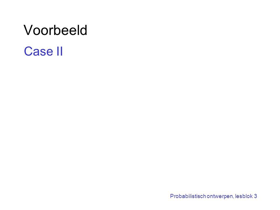 Voorbeeld Case II Probabilistisch ontwerpen, lesblok 3