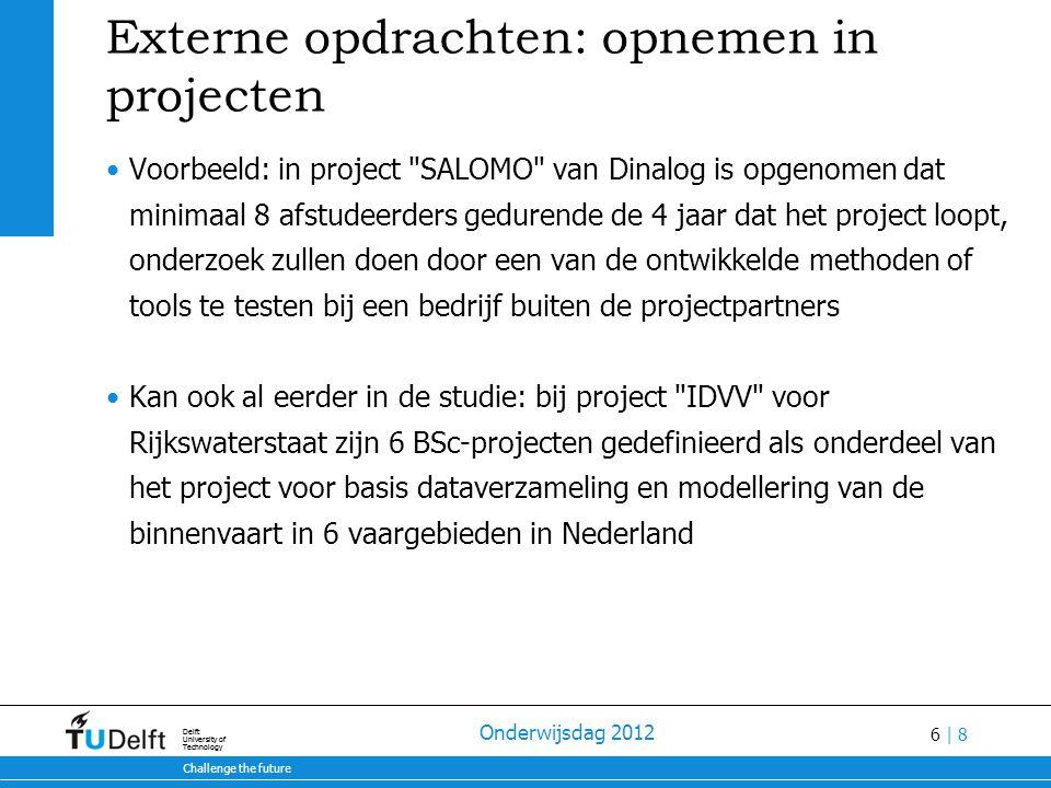 Externe opdrachten: opnemen in projecten