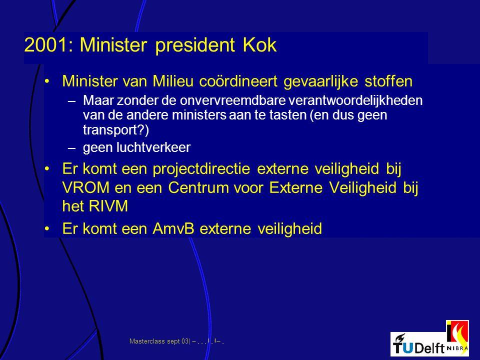 2001: Minister president Kok