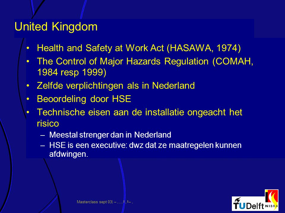 United Kingdom Health and Safety at Work Act (HASAWA, 1974)