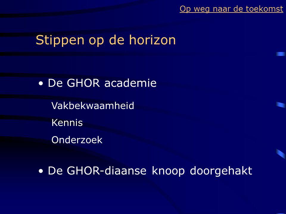 Stippen op de horizon De GHOR academie