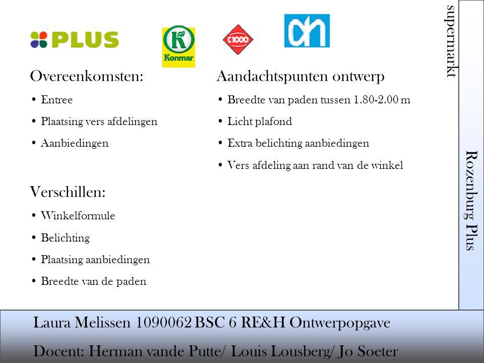 Aandachtspunten ontwerp Rozenburg Plus supermarkt