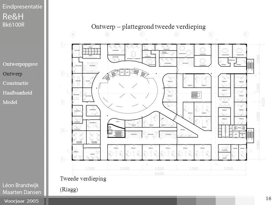 Ontwerp – plattegrond tweede verdieping