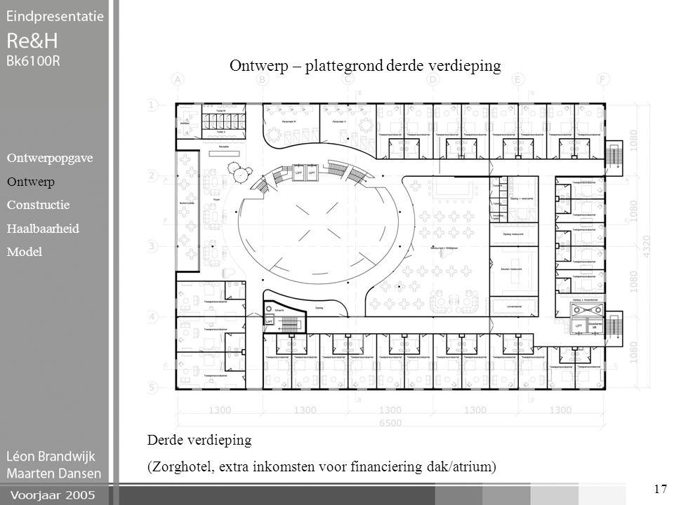 Ontwerp – plattegrond derde verdieping