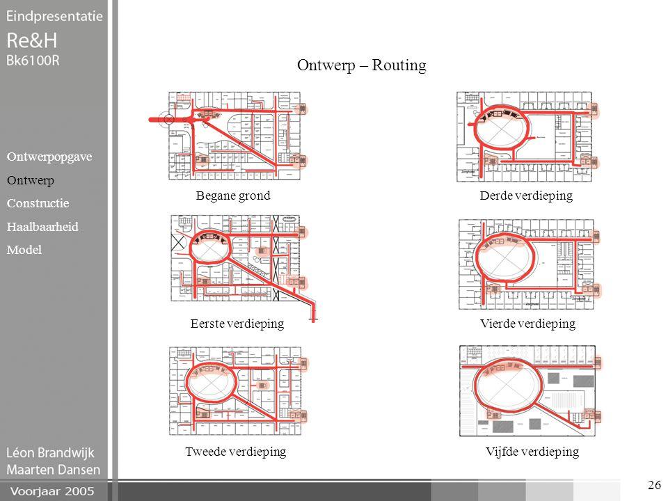 Ontwerp – Routing Ontwerpopgave Ontwerp Constructie Haalbaarheid Model
