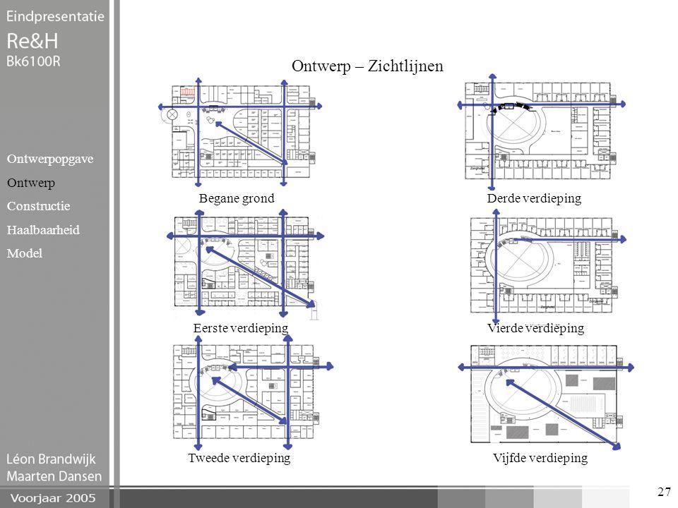 Ontwerp – Zichtlijnen Ontwerpopgave Ontwerp Constructie Haalbaarheid