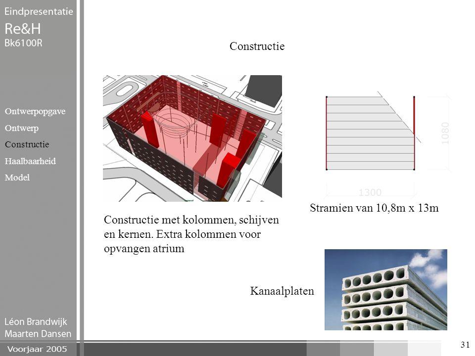 Constructie Stramien van 10,8m x 13m