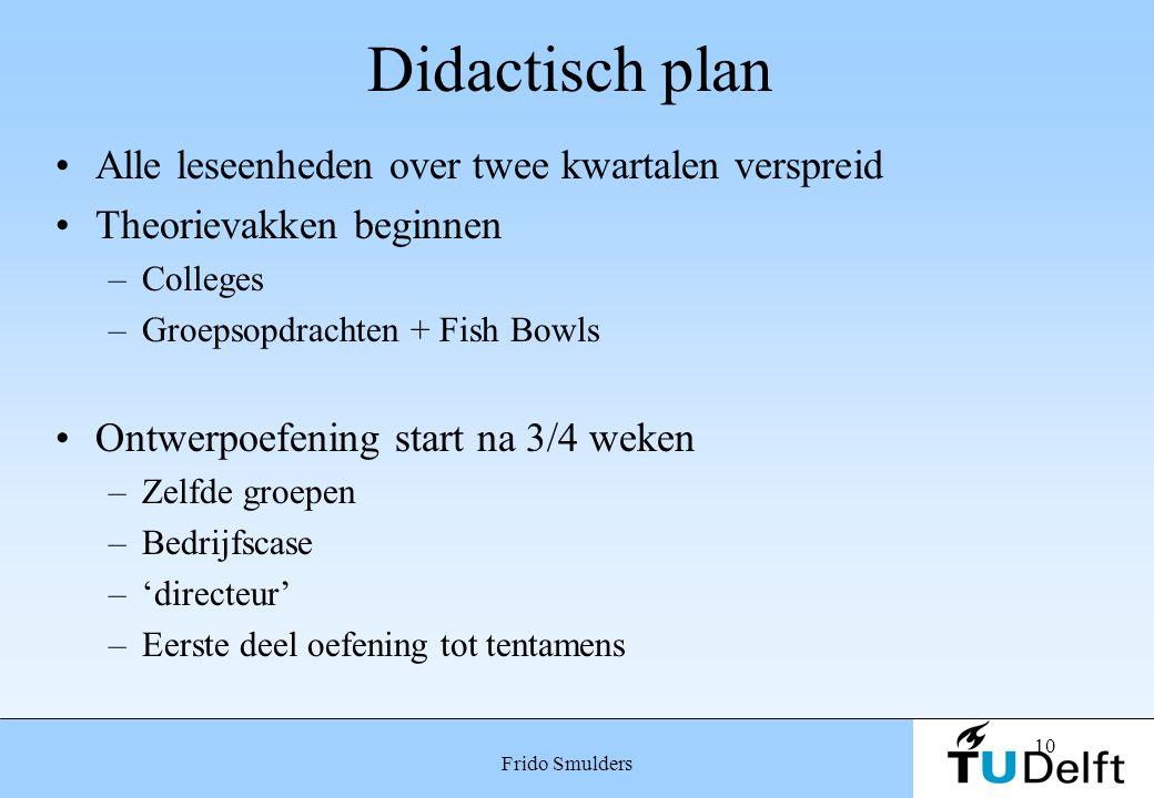 Didactisch plan Alle leseenheden over twee kwartalen verspreid