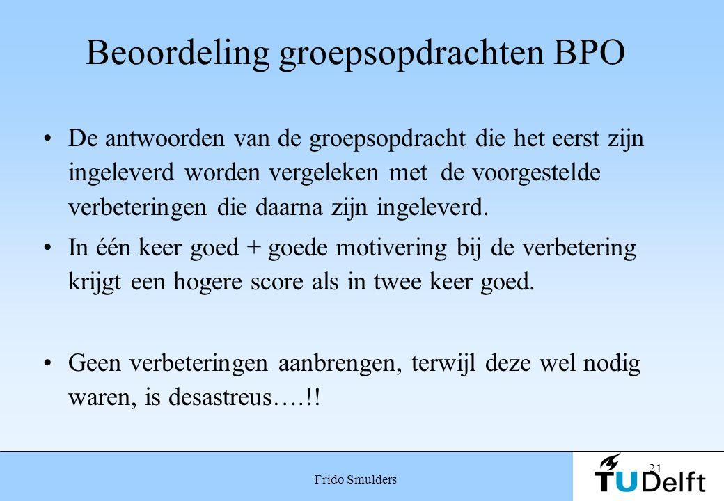 Beoordeling groepsopdrachten BPO