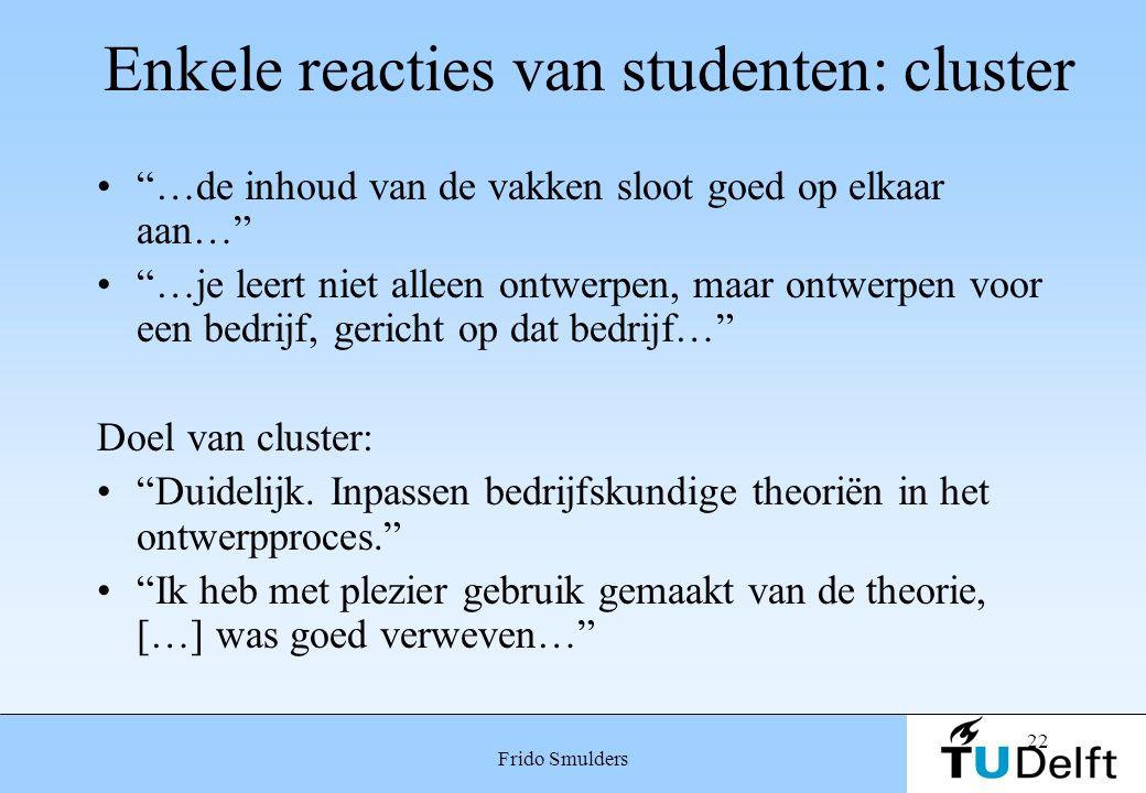 Enkele reacties van studenten: cluster